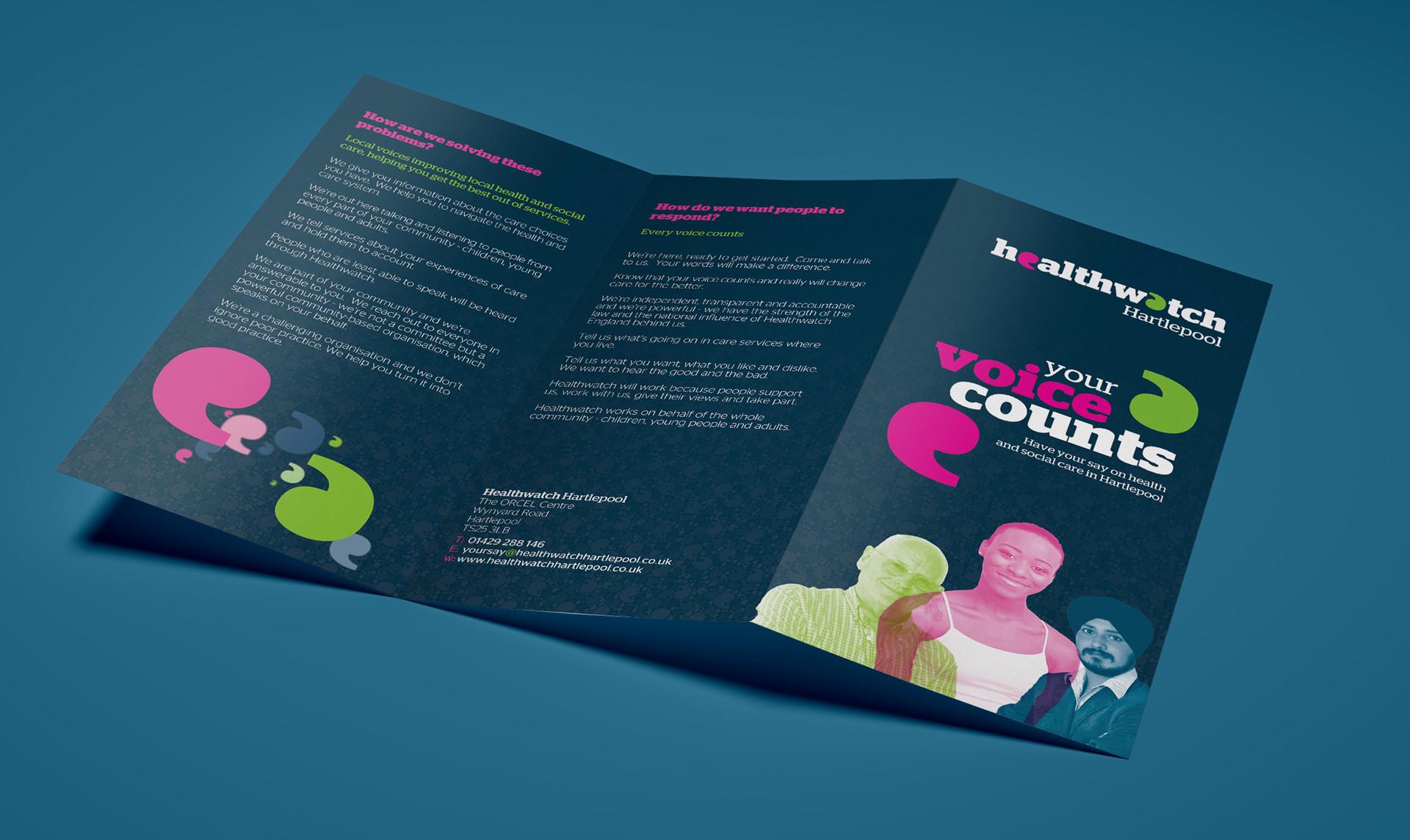 Healthwatch Leaflet Design