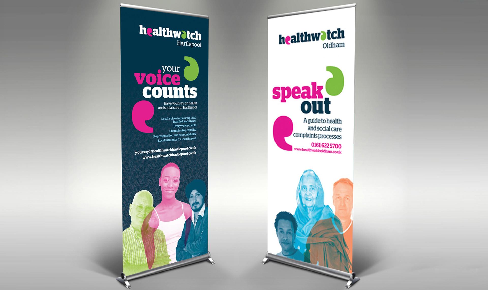Healthwatch Roll Up Banner Design