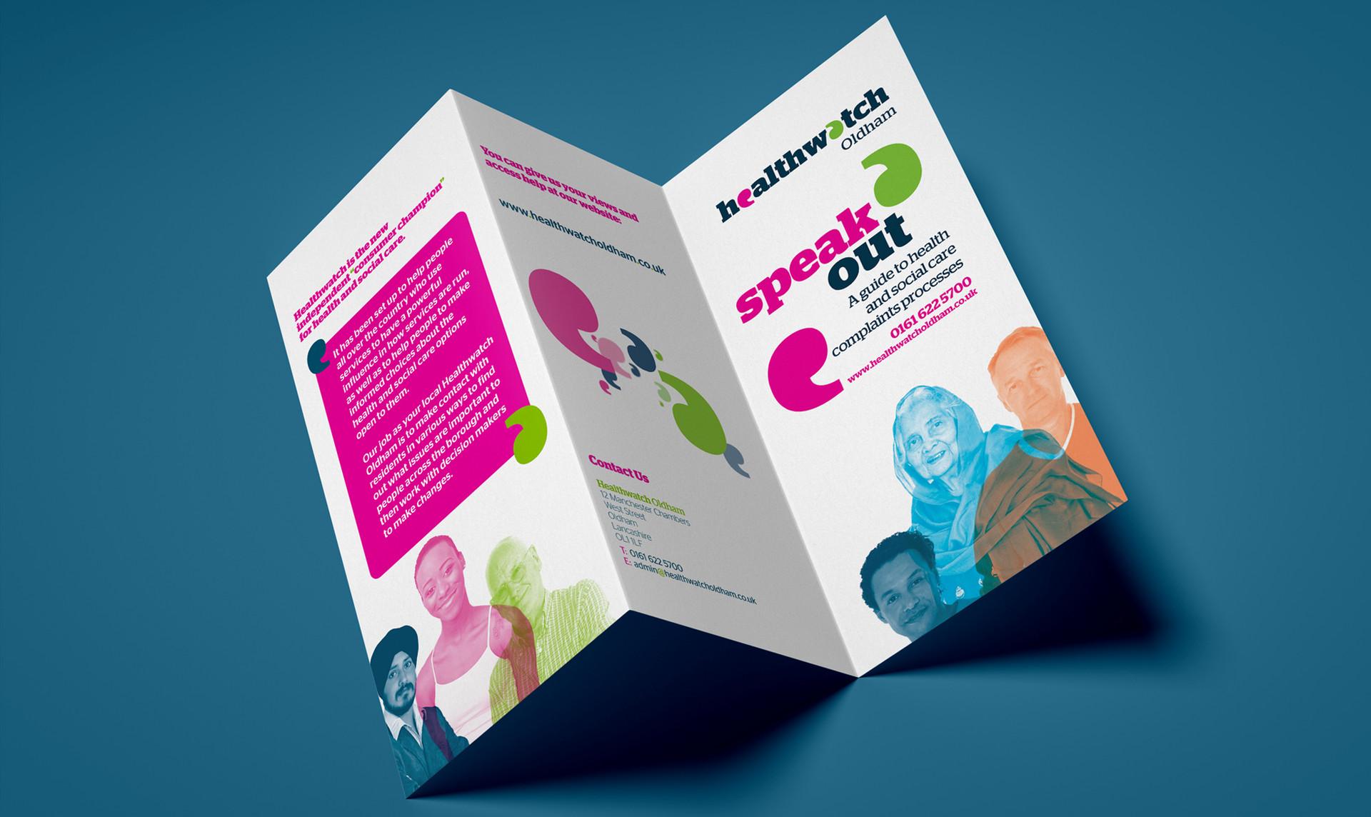 Healthwatch Trifold Leaflet Design