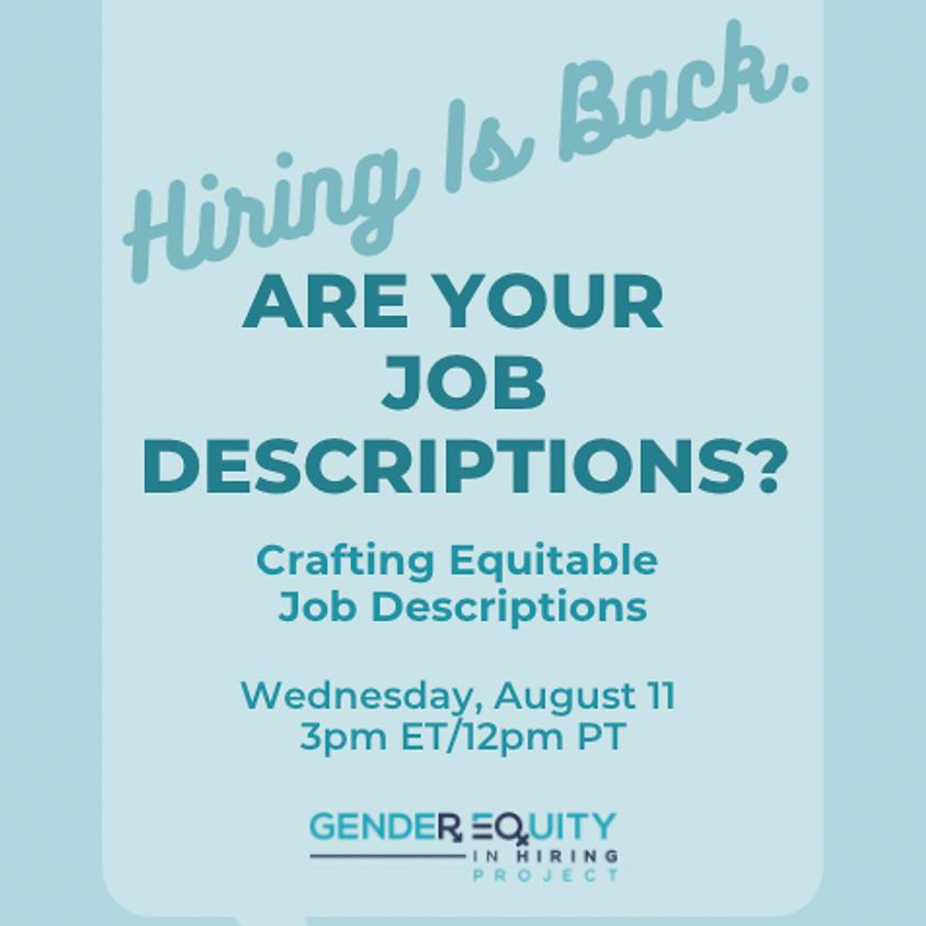 Crafting Equitable Job Descriptions