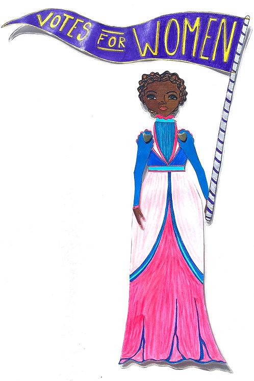 Leading Lady Mary Ann Shadd Cary Paper Doll Pattern by Artist Jen Haefeli
