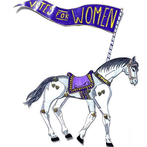 Horse for Leading Lady Inez Milholland Boissevain Paper Doll Pattern by Artist Jen Haefeli