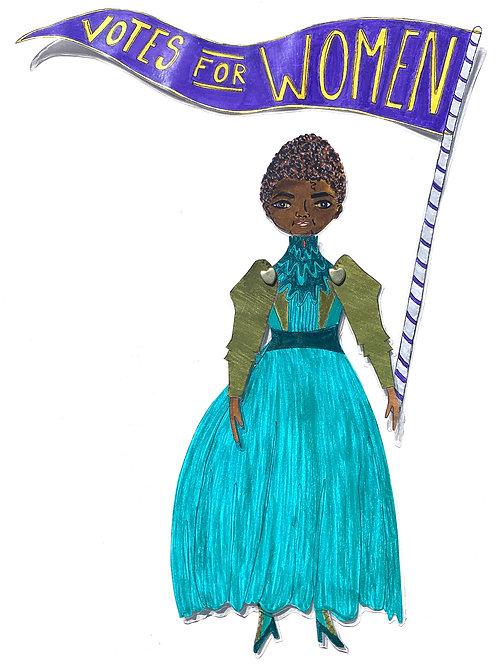 Leading Lady Ida B. Wells Barnett Paper Doll Pattern by Artist Jen Haefeli