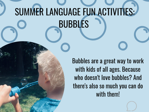 Summer Language Fun with Bubbles!