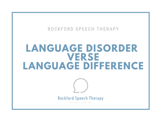 Language Disorder Vs. Language Difference