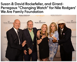 Dylan Speaks at Rockefeller Event for the We Are Family Foundation