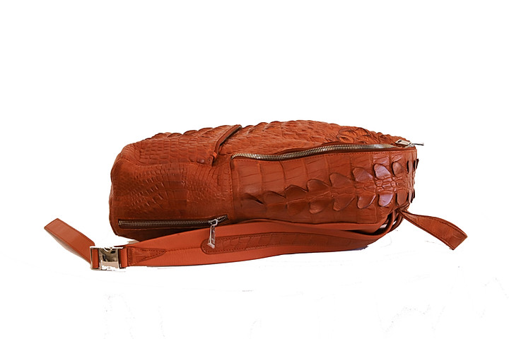 Hornback Crocodile Skin Backpack
