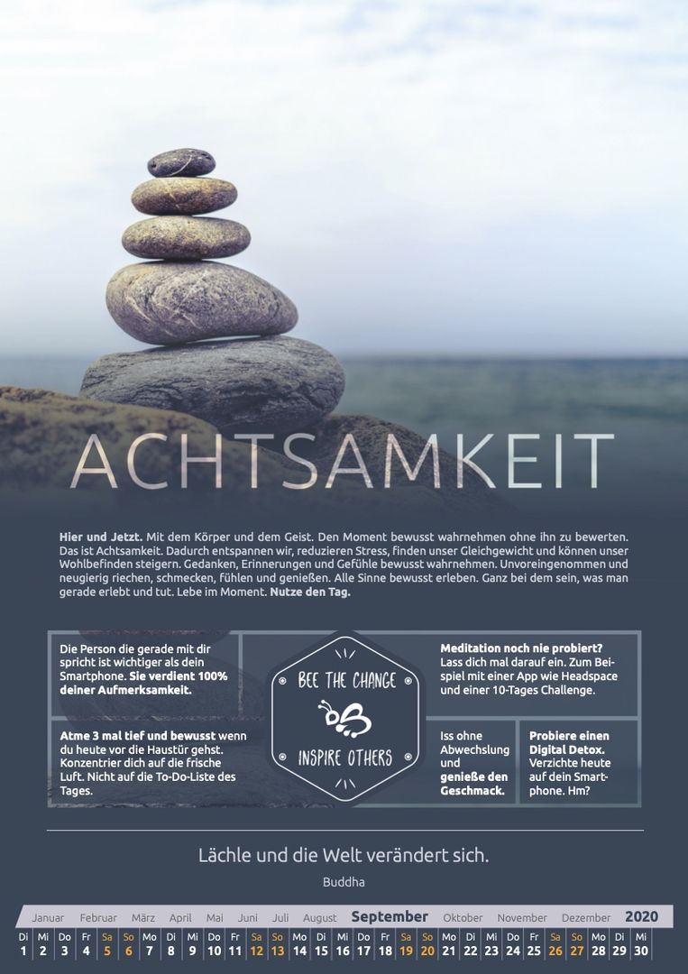 September - Achtsamkeit