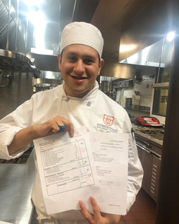 Alejandro Castellon (2019) with his ICC final exams