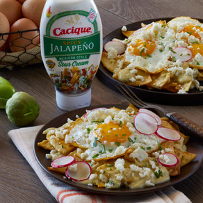 Chilaquiles with Creamy Salsa Verde