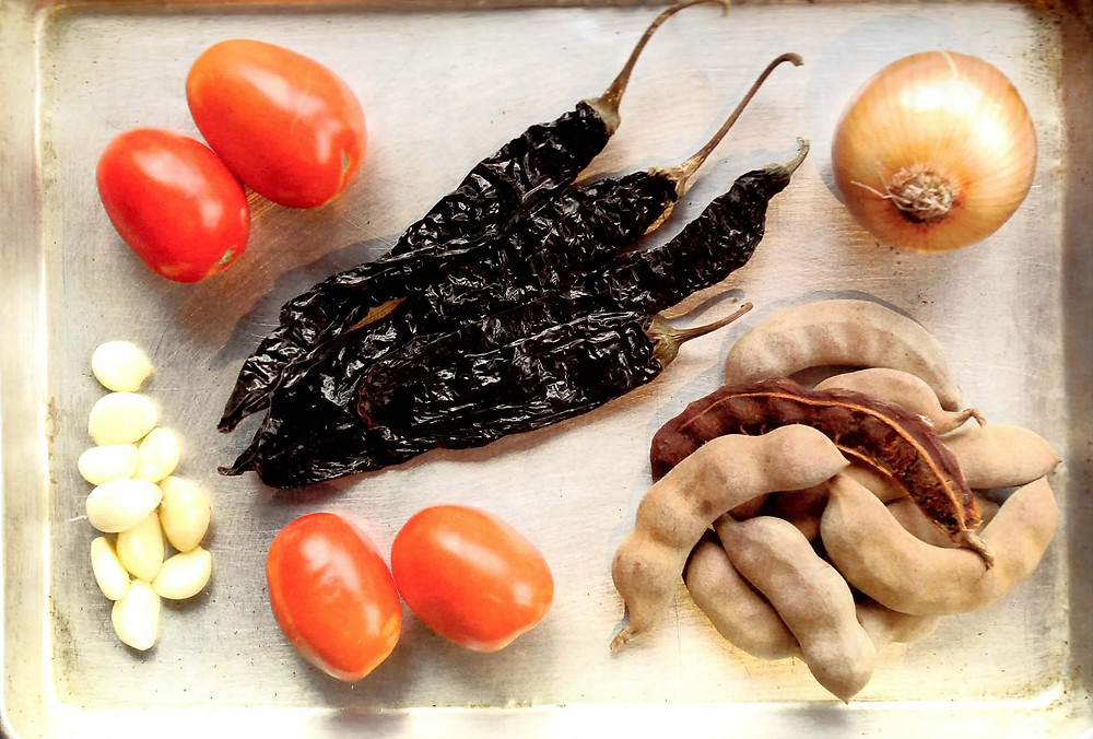 Tamarind-Tomatillo Paste Ingredients