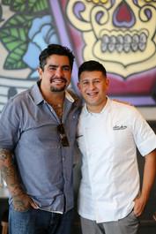 Chef Aarón Sánchez with Alejandro Castellon (2019)