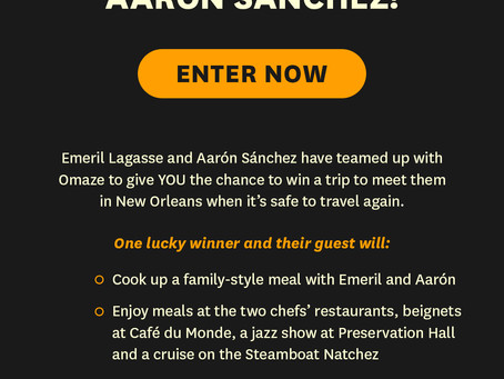 WIN A TRIP TO NOLA WITH ME & EMERIL!