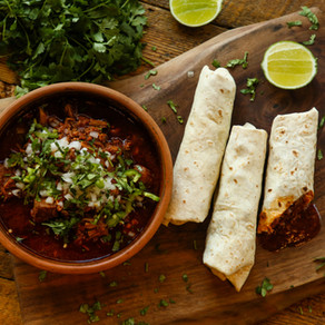 Tio Mario's Famous Chili Con Carne Colorado-Style Burritos