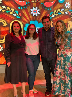 Ana Navarro, Yan Torres (2019), Chef Aarón Sánchez, and Sunny Hostin at The View