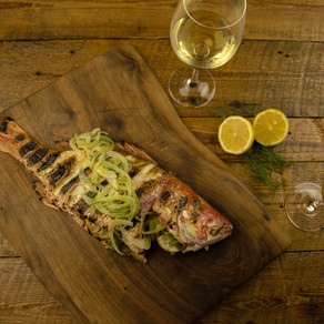 Whole Grilled Snapper with Roasted Fennel and Grapefruit