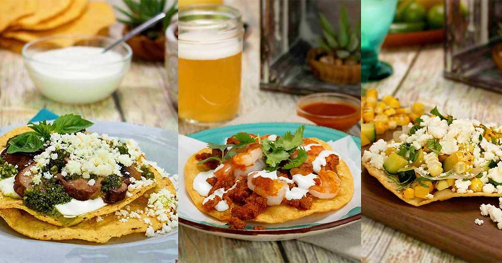 Tostadas Three Ways for Cinco de Mayo