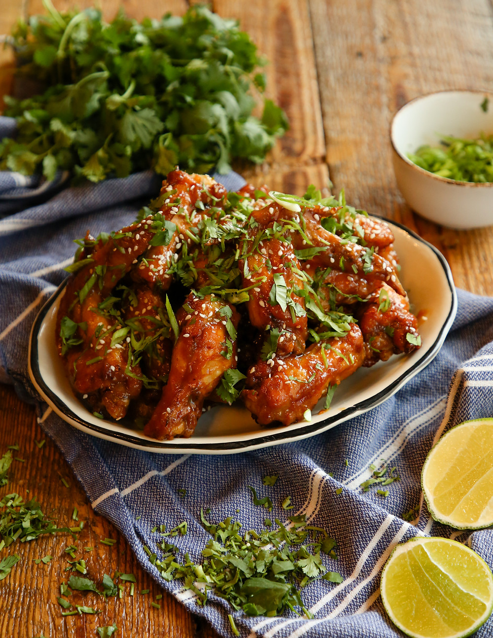 Zarela's Pineapple-Ginger Chicken Wings with Soy-Pineapple Glaze