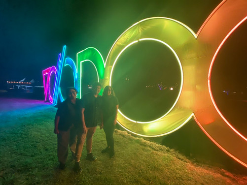 Camilla (2020), Alejandro (2019), and Yan (2019) at Voodoo Festival in New Orleans, LA