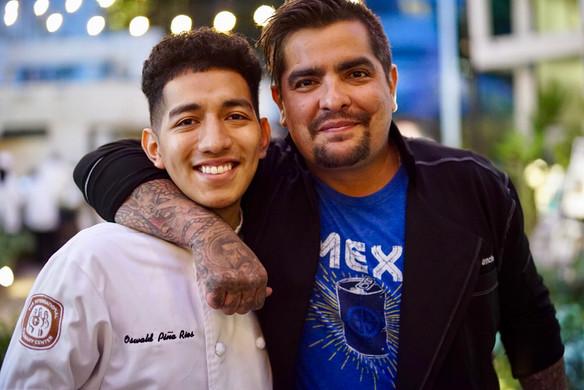 Oswaldo Rios (2018) and Chef Aarón Sánchez