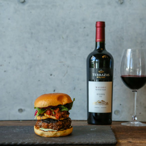 Chorizo and Beef Burger with Grilled Sweet Potato