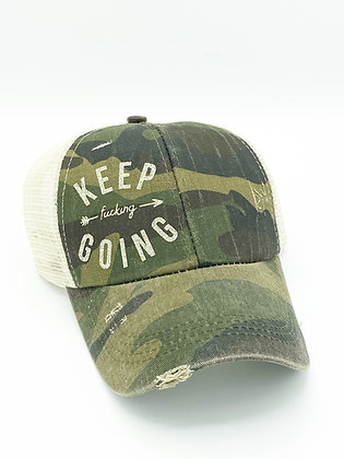 Keep F***ing Going Pony Tail Hat