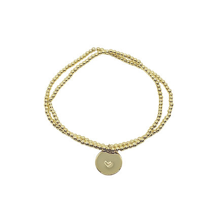 2mm Hematite Charm Bracelet