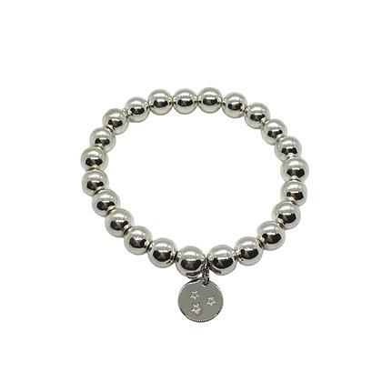 8mm Hematite Charm Bracelet