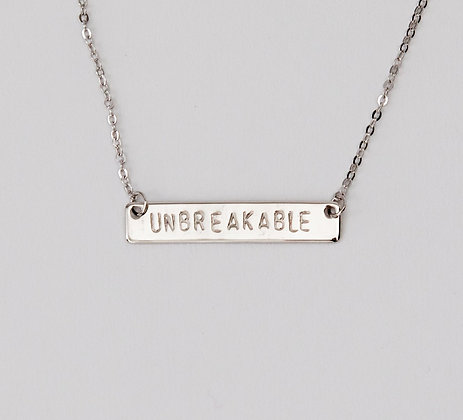 Unbreakable Bar Necklace