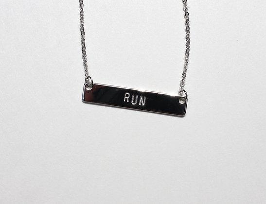 Run Bar Necklace