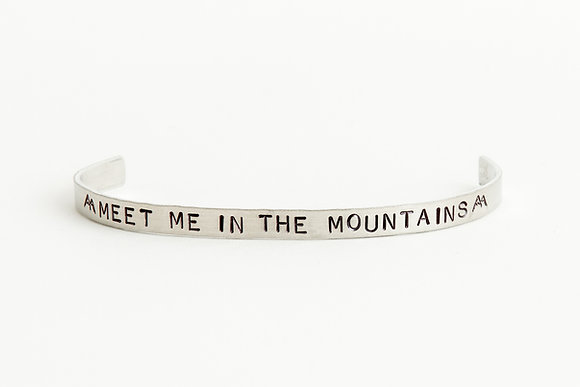 Meet me in the Mountains Cuff Bracelet