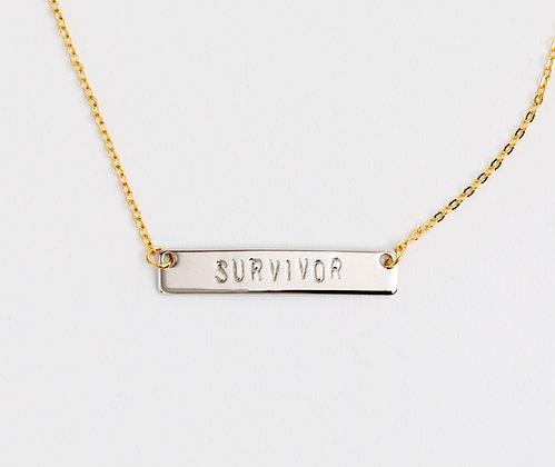Survivor Bar Necklace