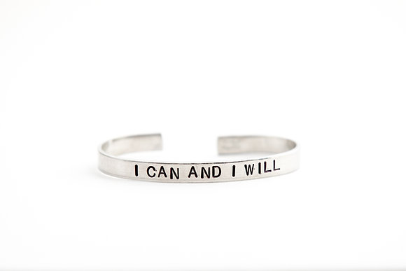 I Can and I Will Cuff Bracelet
