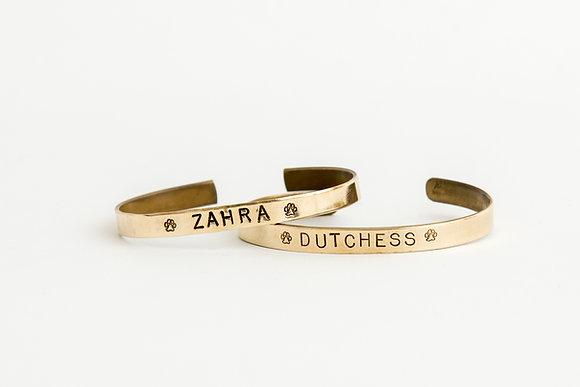 Pet Name Cuff Bracelet