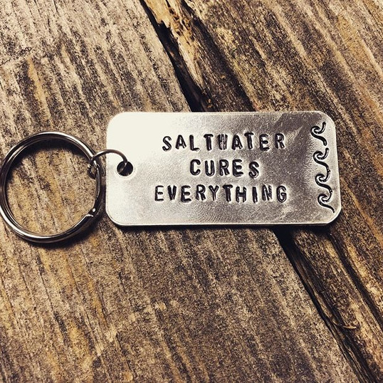 Saltwater Cures Everything Keychain