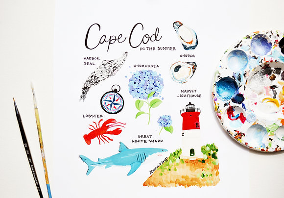 Cape Cod in the Summer Print