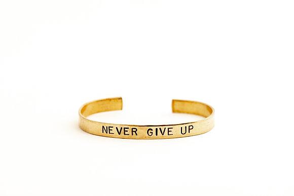Never Give Up Cuff Bracelet