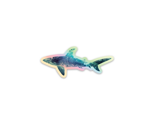 Holographic Shark Sticker