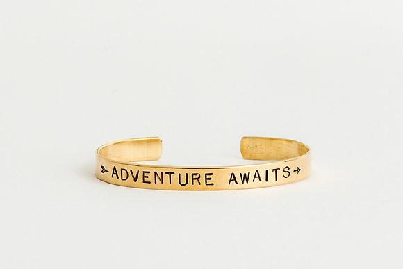 Adventure Awaits Cuff Bracelet
