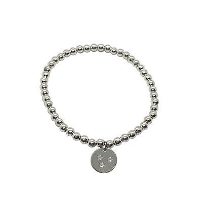 4mm Hematite Charm Bracelet