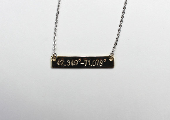 Finish Line Bar Necklace