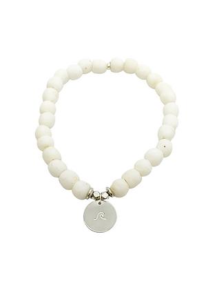 White Glass Charm Bracelet