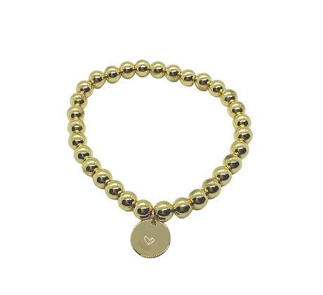 6mm Hematite Charm Bracelet