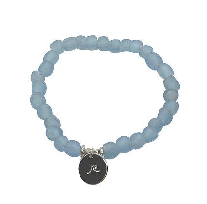 Light Blue Glass Charm Bracelet