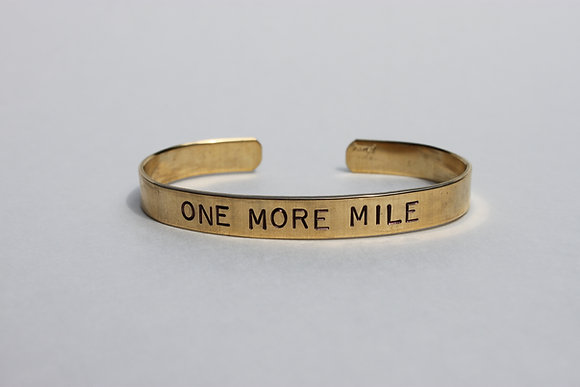 One More Mile Cuff Bracelet