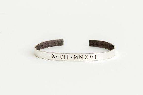 Roman Numeral Cuff Bracelet