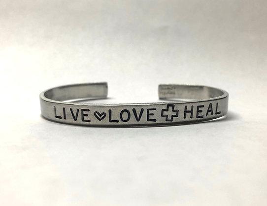 Live, Love, Heal Cuff