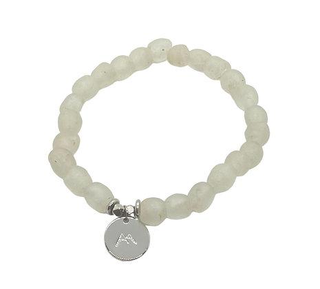 Clear Glass Charm Bracelet