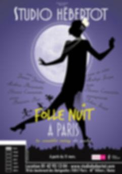 Affiche Folle nuit à Paris