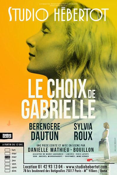 Affiche Le Choix de Gabrielle